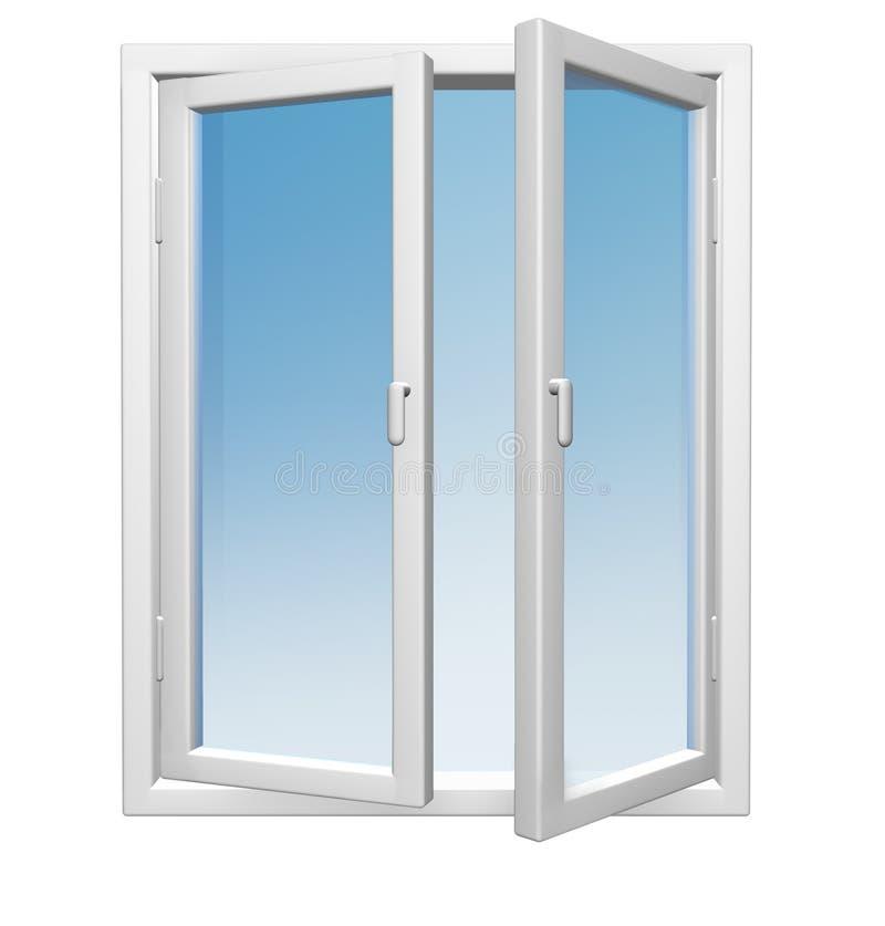 белые окна стоковая фотография