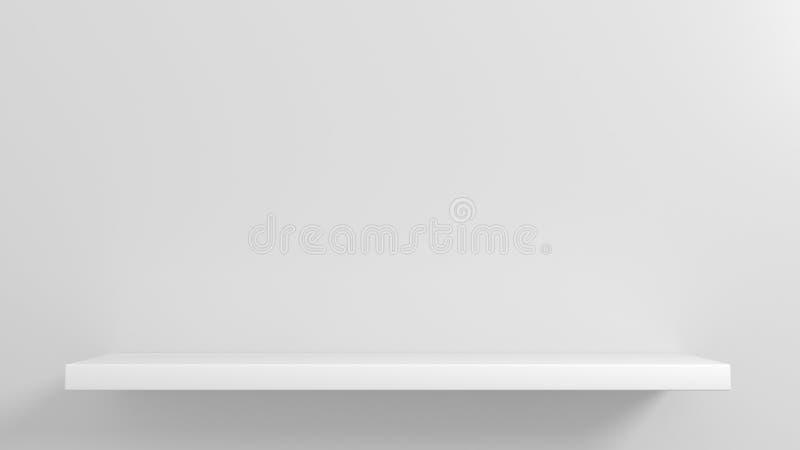 Белые полки для витрины товаров бесплатная иллюстрация