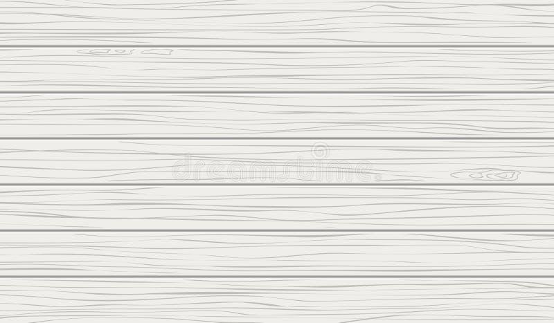 Белые предпосылка или текстура, горизонтальные деревянные планки стена, таблица, поверхность пола Светлая иллюстрация вектора иллюстрация вектора