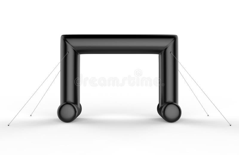 Белые пустые раздувные угловые трубка свода или въездные ворота события Начните линию дверь свода спорт двойную иллюстрация 3d пр иллюстрация вектора