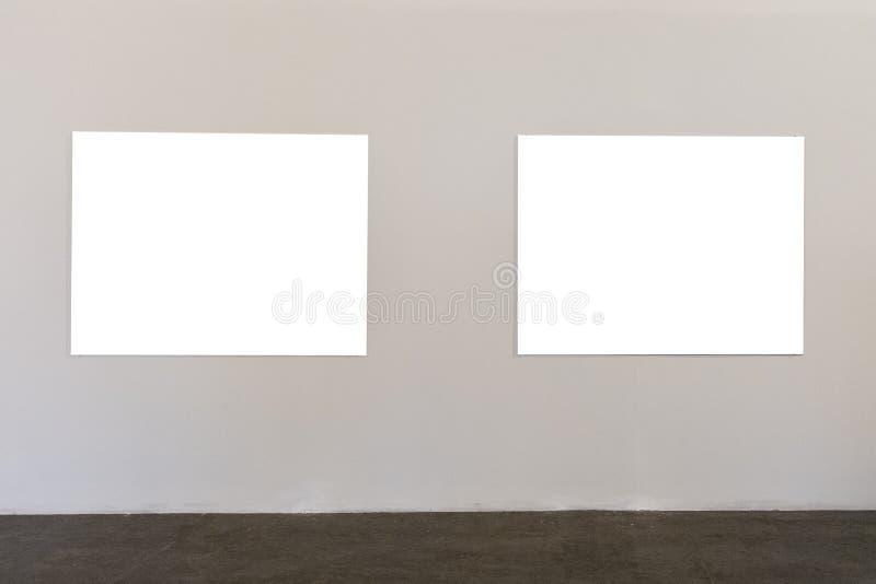 Белые рамки на белой предпосылке стоковое изображение