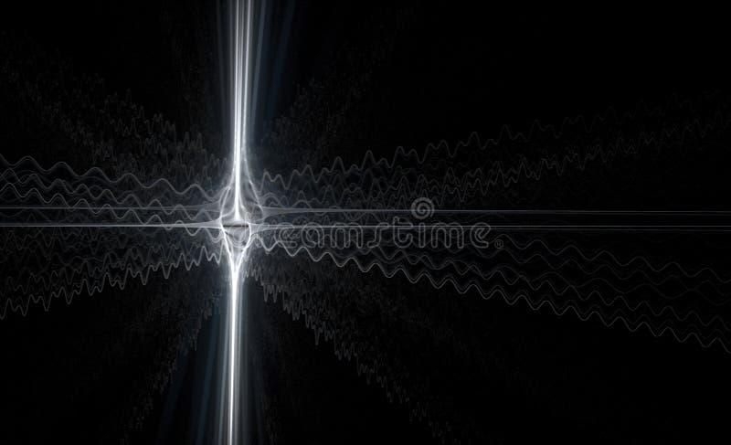 Белые серебряные волны спайка стоковые фото
