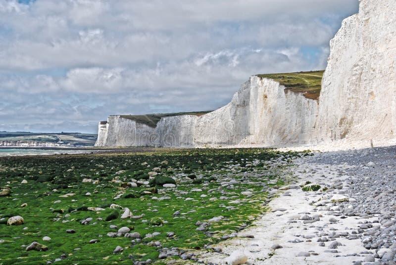 Белые скалы стоковая фотография