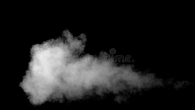 Белый водяной пар на черной предпосылке стоковые изображения rf