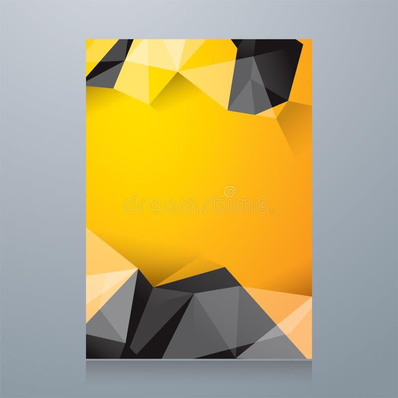 Белый геометрический шаблон дизайна обложки книги форм иллюстрация вектора