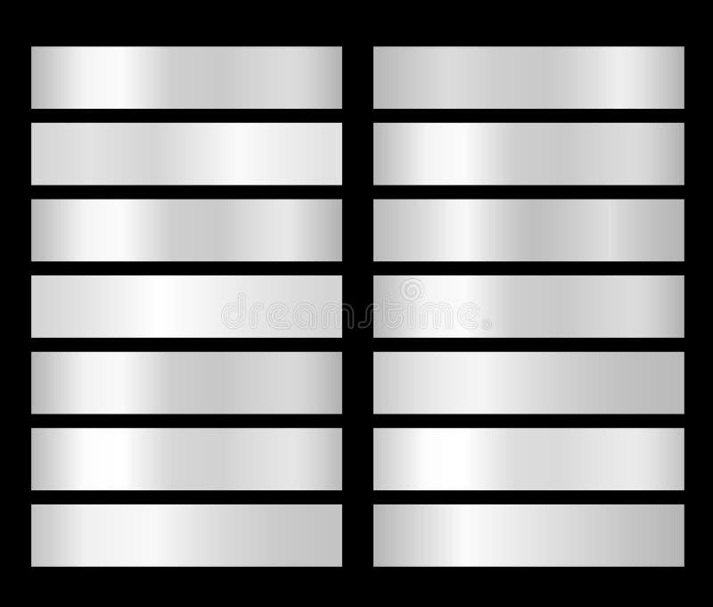 Белый градиент Платина, серебр, хром, алюминиевый градиент текстуры фольги металла иллюстрация вектора