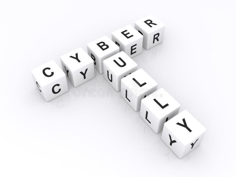 Белый задира Cyber произношения по буквам кубиков бесплатная иллюстрация