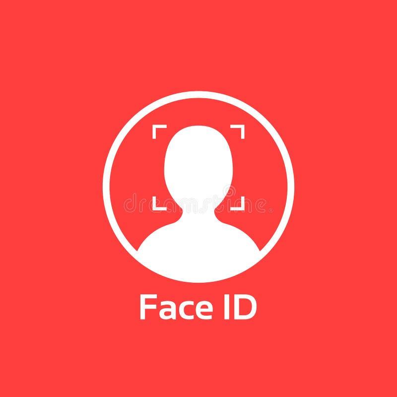 Белый значок id стороны на красной предпосылке бесплатная иллюстрация