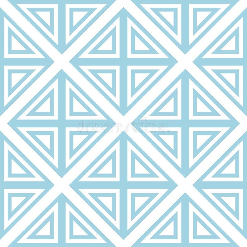 Белый и голубой геометрический орнамент картина безшовная иллюстрация вектора