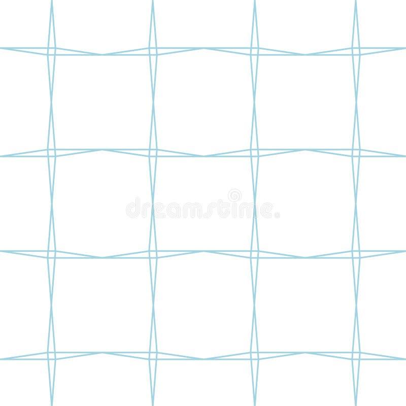 Белый и голубой геометрический орнамент картина безшовная бесплатная иллюстрация
