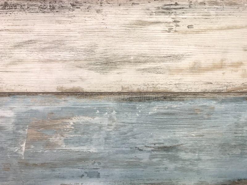 Белый и голубой затрапезный винтажный ламинат E стоковое изображение rf