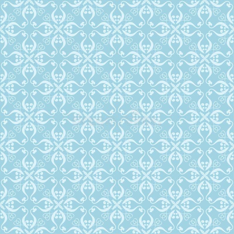 Белый и голубой флористический орнамент картина безшовная иллюстрация штока