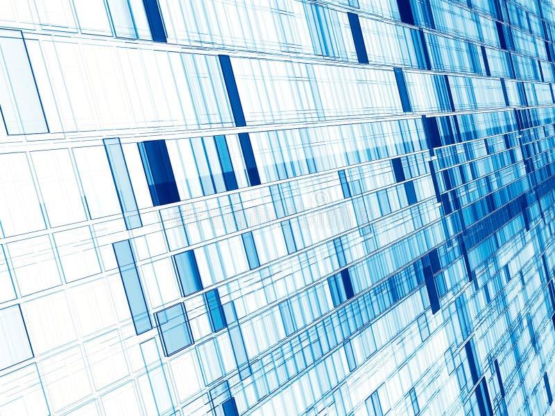 Белый и голубой фон - раскосная стена - конспекта ge цифров стоковые фото