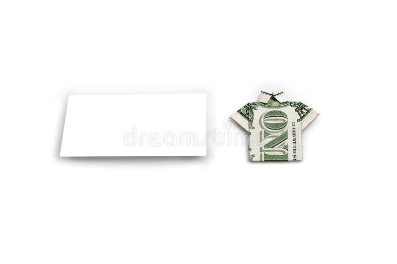 Белый квадрат и 1 доллар стоковая фотография rf