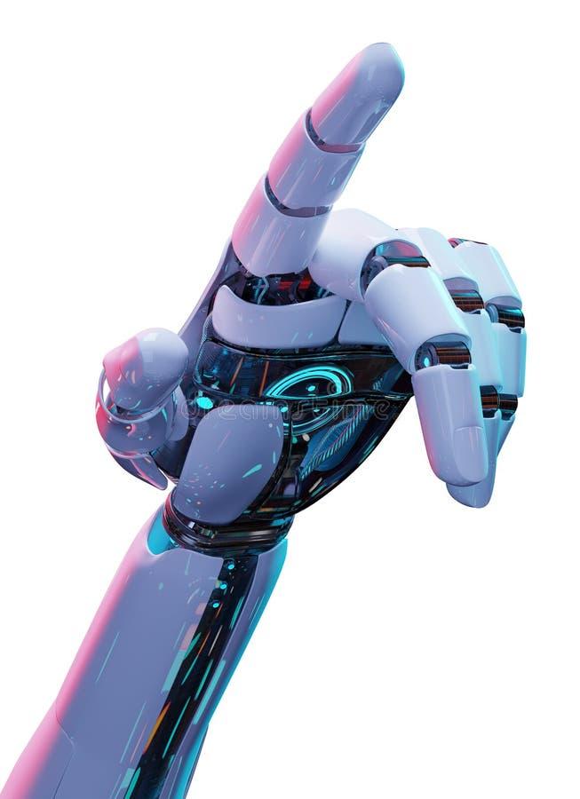 Белый киборг указывая его перевод пальца 3D бесплатная иллюстрация
