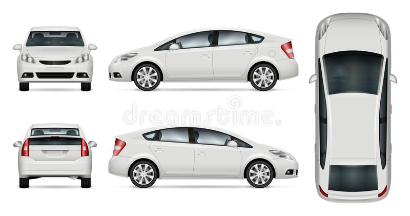Белый модель-макет вектора автомобиля бесплатная иллюстрация