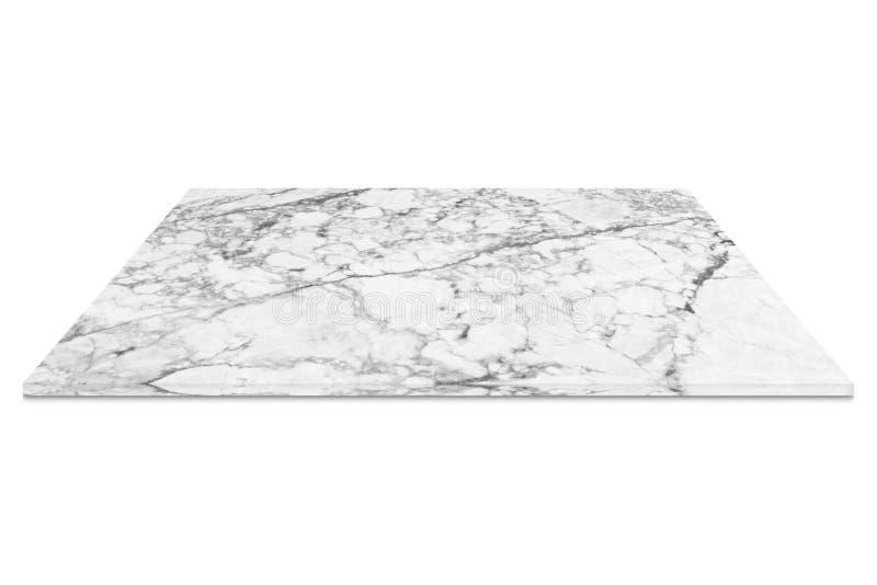 Белый мраморный счетчик изолированный на белой предпосылке бесплатная иллюстрация
