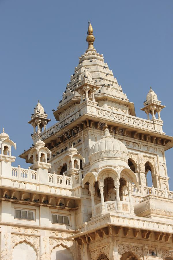 Белый мрамор Jaswant Thada стоковые фото