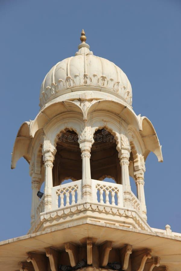 Белый мрамор Jaswant Thada стоковая фотография