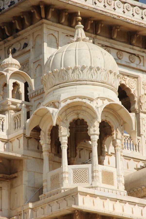 Белый мрамор Jaswant Thada стоковое фото