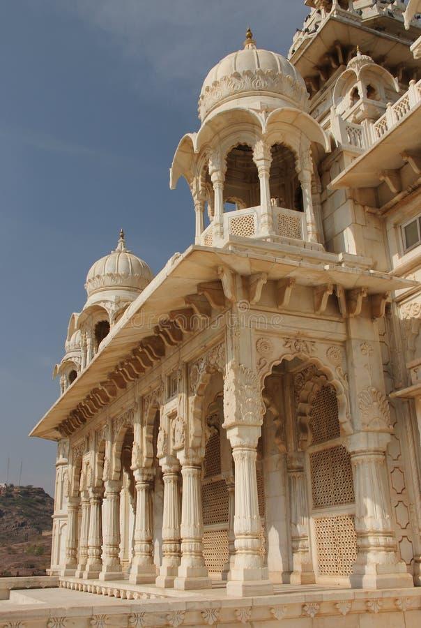 Белый мрамор Jaswant Thada стоковые изображения rf