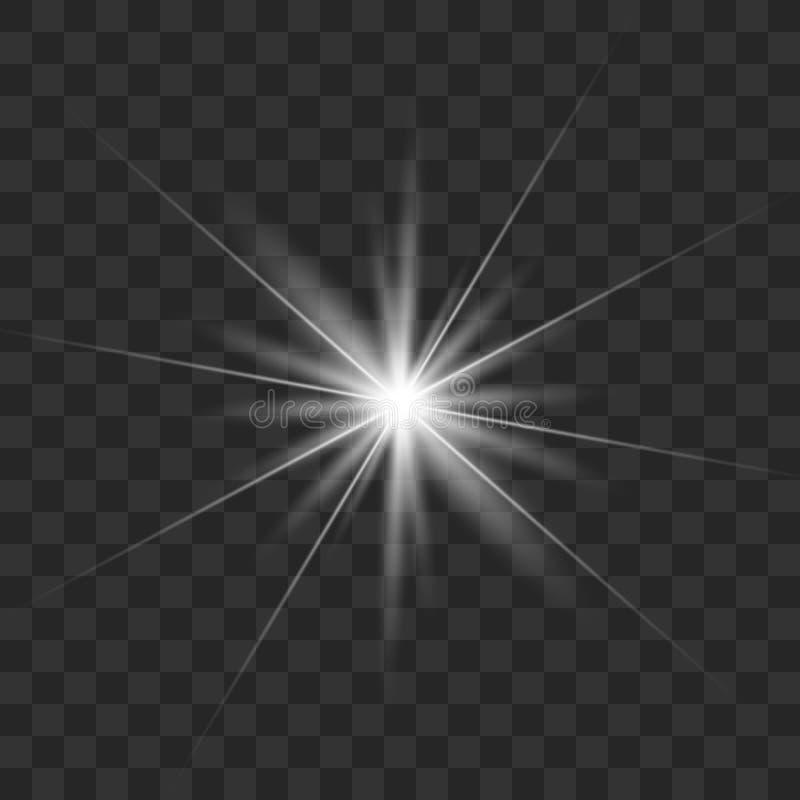 Белый накаляя свет иллюстрация вектора
