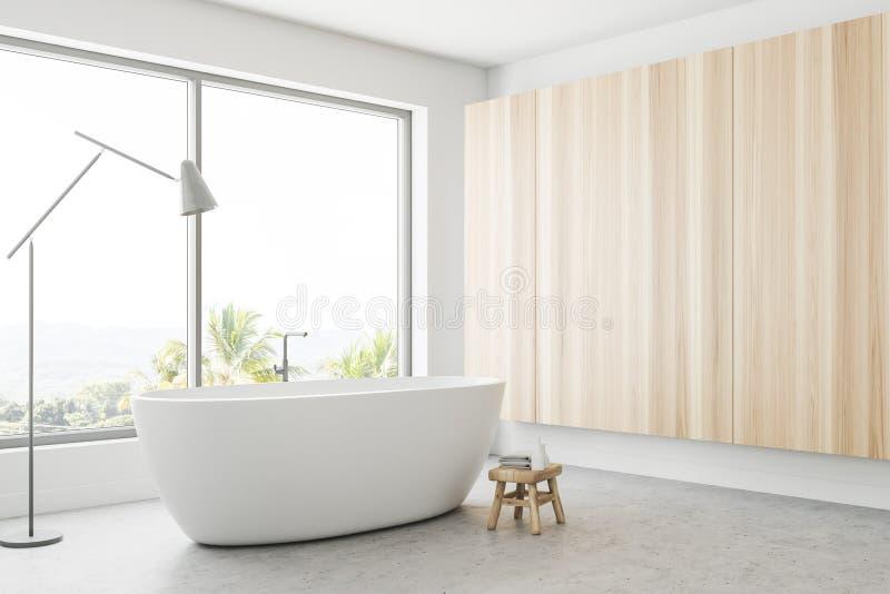 Белый панорамный угол ванной комнаты иллюстрация штока