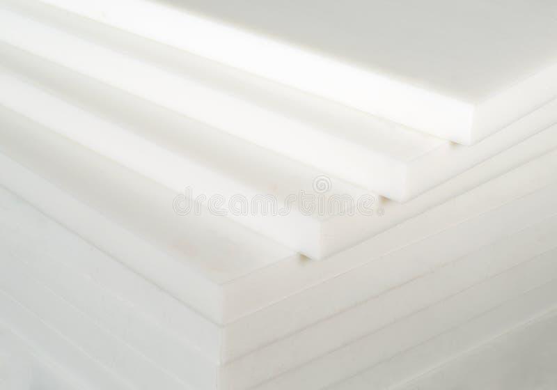 Белый пластиковый лист стоковое изображение rf