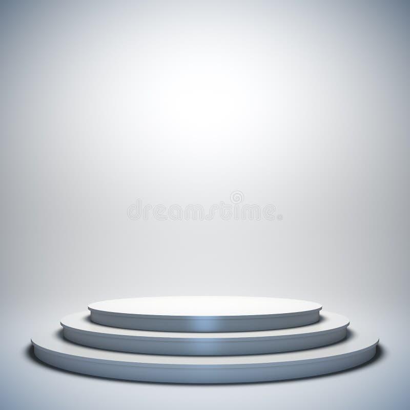 Белый пустой этап. иллюстрация штока