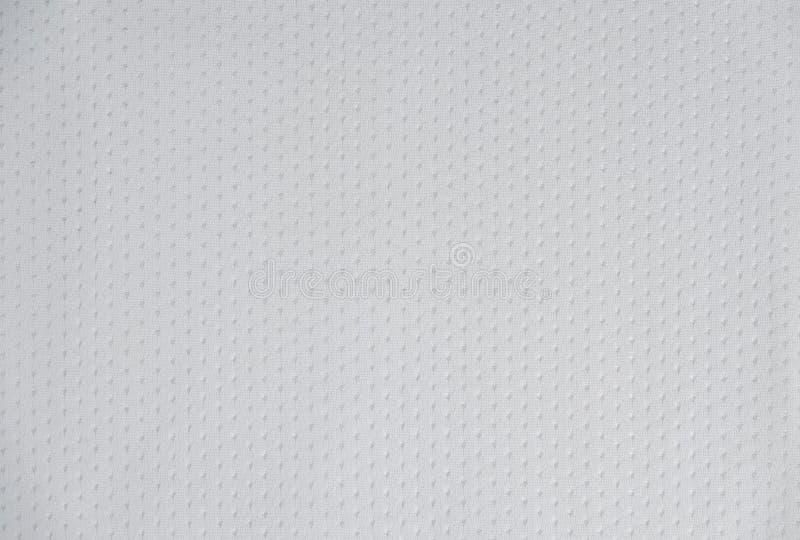 Белый сетки спорт Джерси текстуры конец вверх стоковые фотографии rf