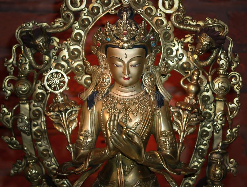Белый символ статуи Тара любов и сострадания стоковые фотографии rf
