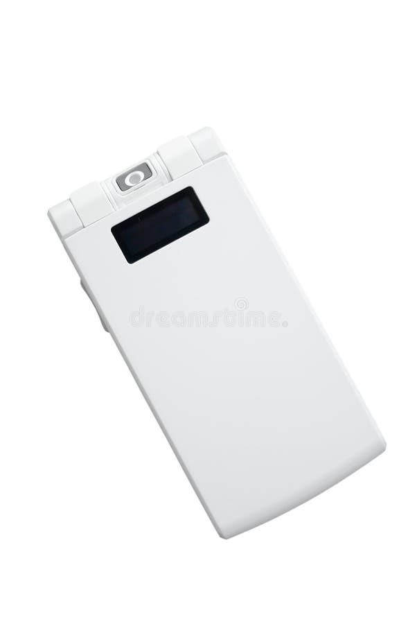 Белый складывая телефон стоковое фото rf