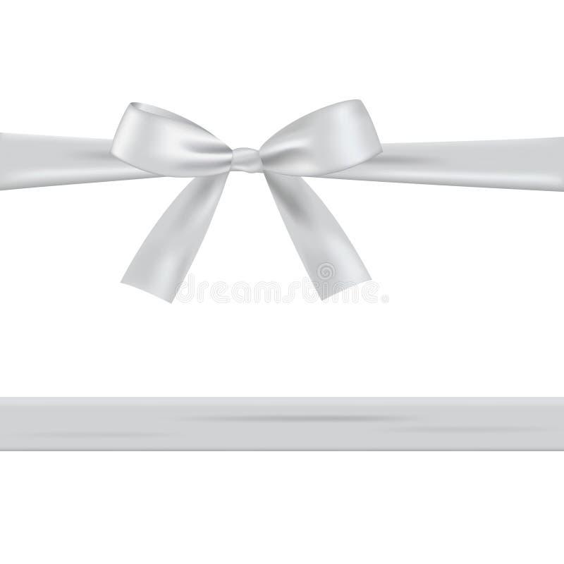 Белый смычок с лентой бесплатная иллюстрация