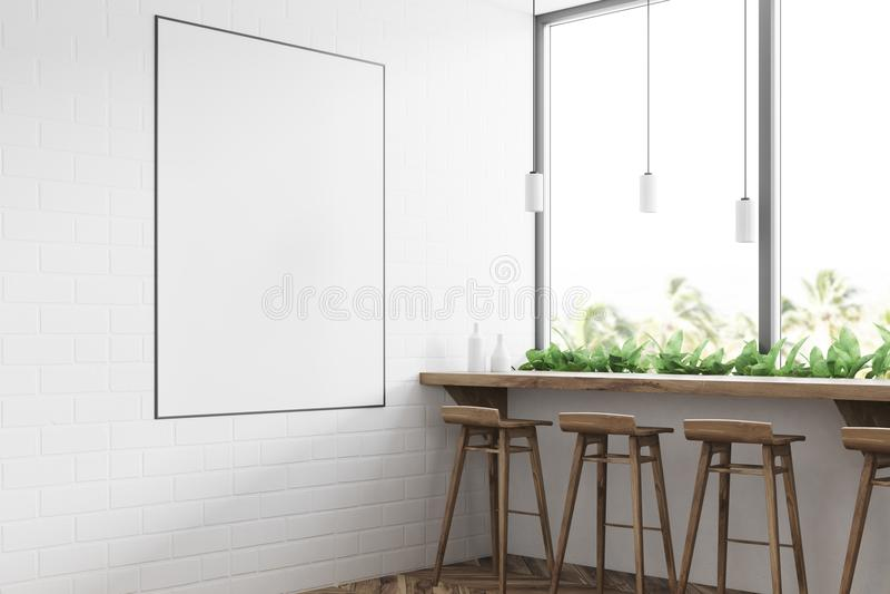 Белый современный угол бара, плакат бесплатная иллюстрация