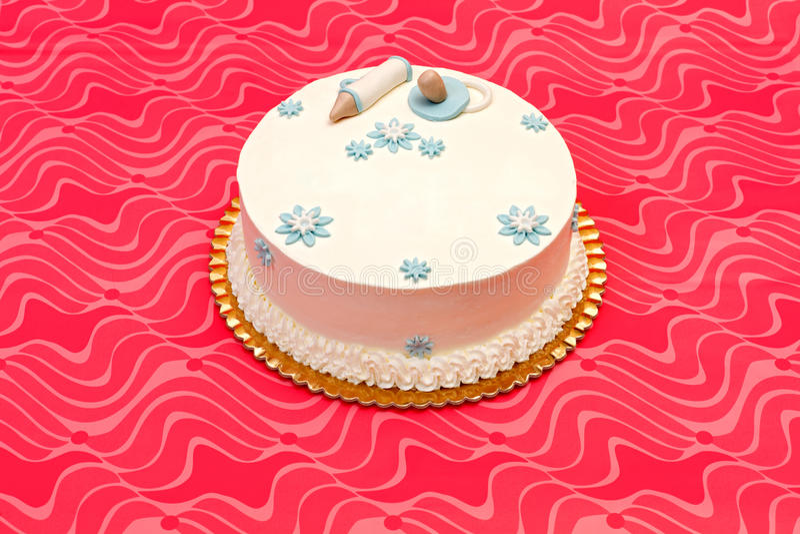 Белый торт баптиста стоковая фотография rf