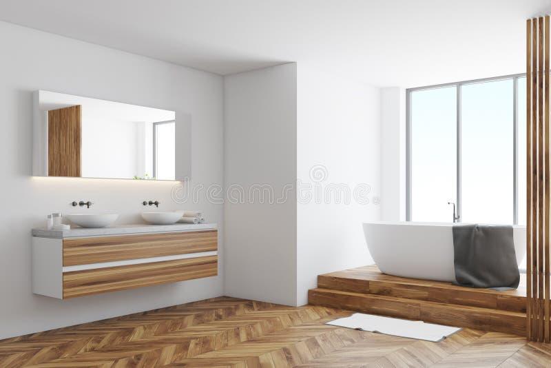 Белый угол ванной комнаты бесплатная иллюстрация