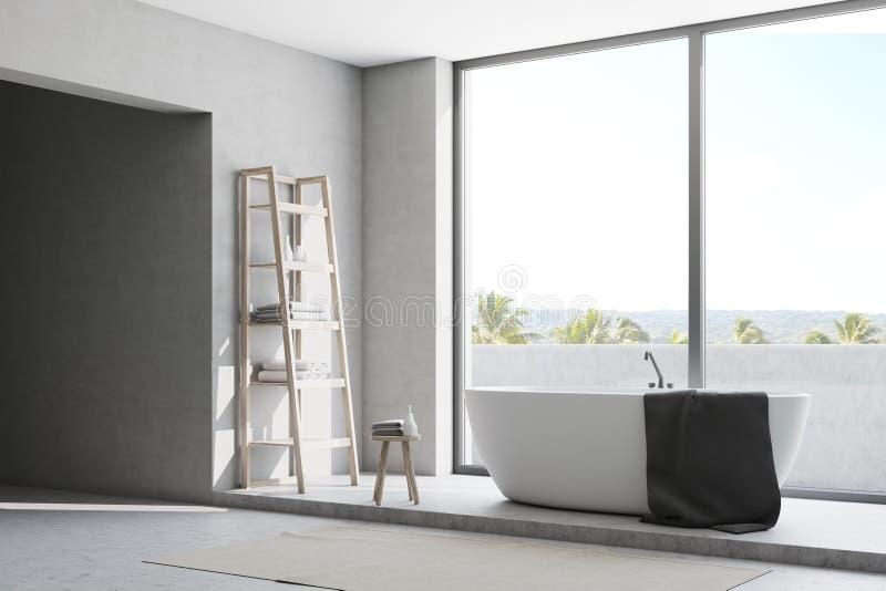 Белый угол ванной комнаты иллюстрация штока