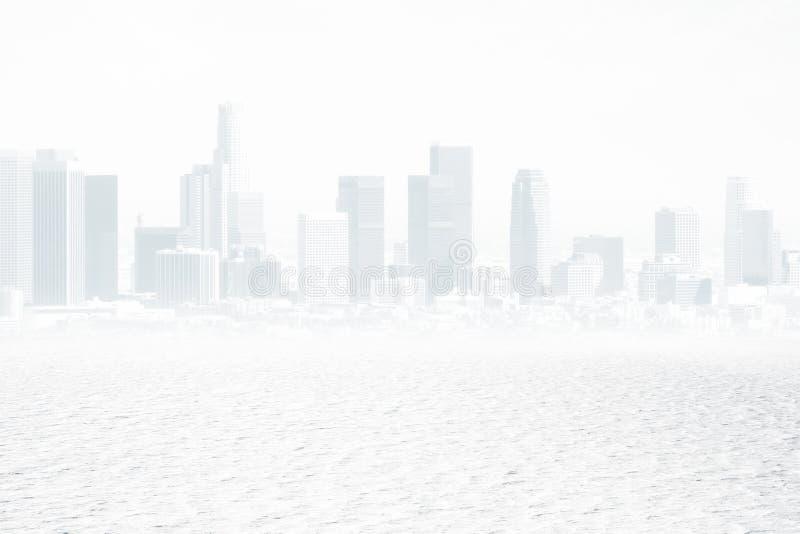 Белый фон города стоковое изображение rf