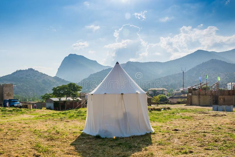 Белый шатер стоковое фото rf