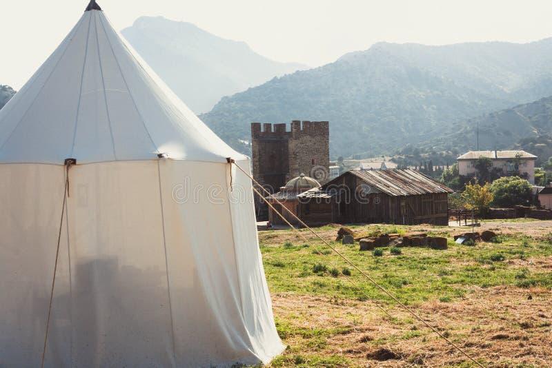 Белый шатер стоковое изображение rf