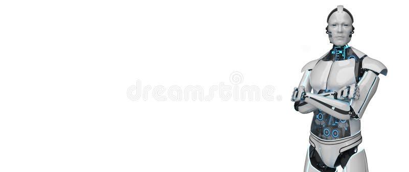 Белый щелчок робота бесплатная иллюстрация