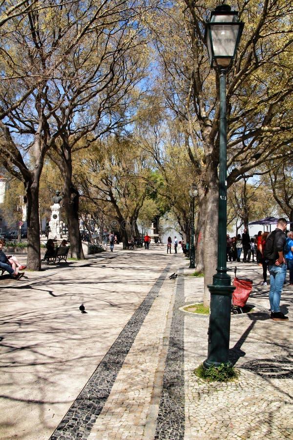 Бельведер сада San Pedro de Alcantara стоковое фото