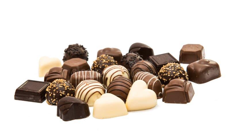 бельгийские шоколады стоковое изображение