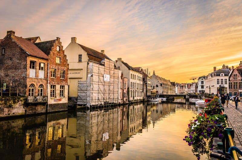 Бельгийский городок Gent стоковые фото