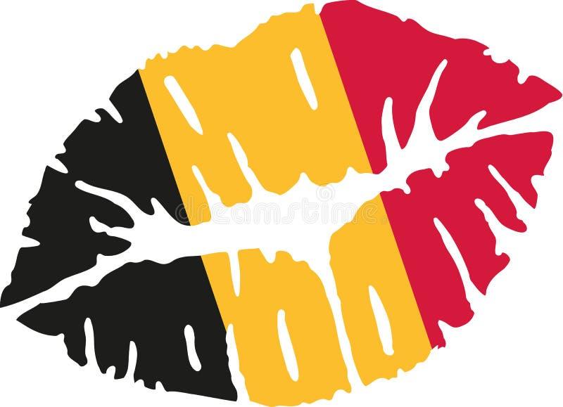 Бельгийский поцелуй флага иллюстрация вектора