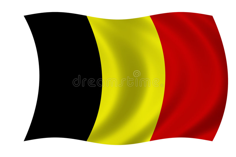 бельгийский флаг иллюстрация вектора