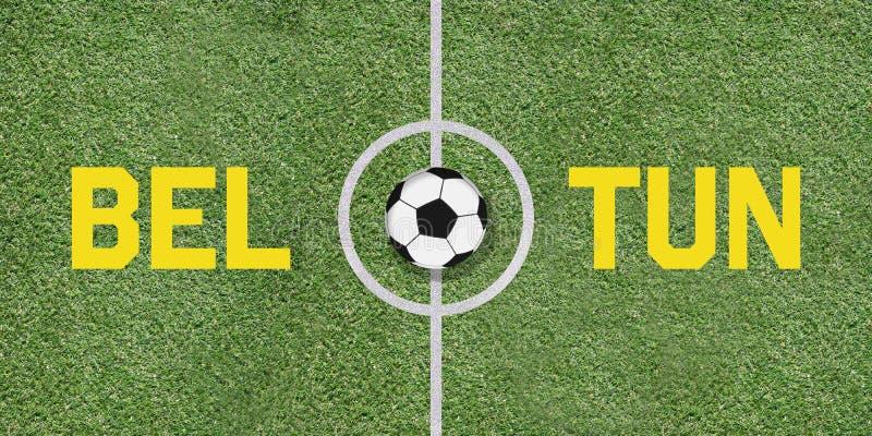 Бельгия против дуэта игры футбола Туниса международного на футболе стоковое фото