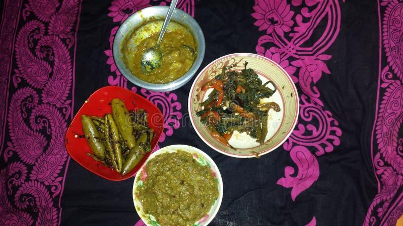 Бенгальская еда стоковые фотографии rf