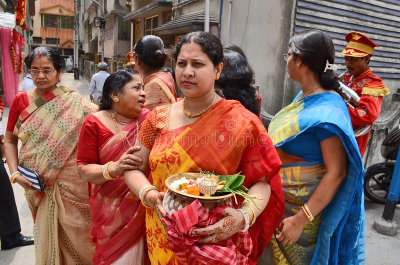 Бенгальские ритуалы стоковая фотография rf