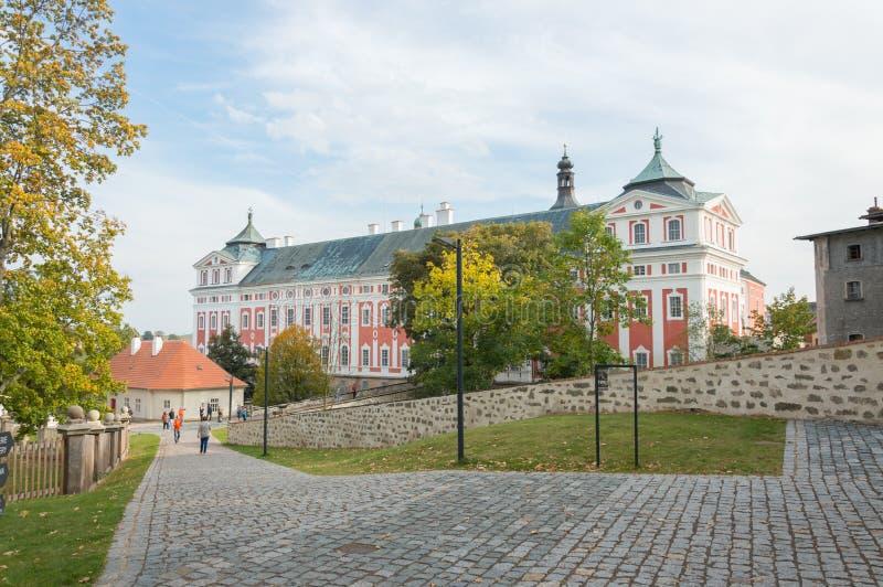 Бенедиктинский монастырь в Broumov, барочной эре стоковое изображение